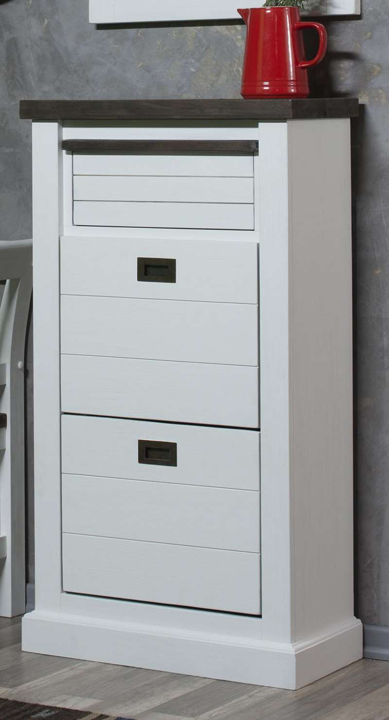 schuhschrank loft schmal weiss lackiert astor. Black Bedroom Furniture Sets. Home Design Ideas