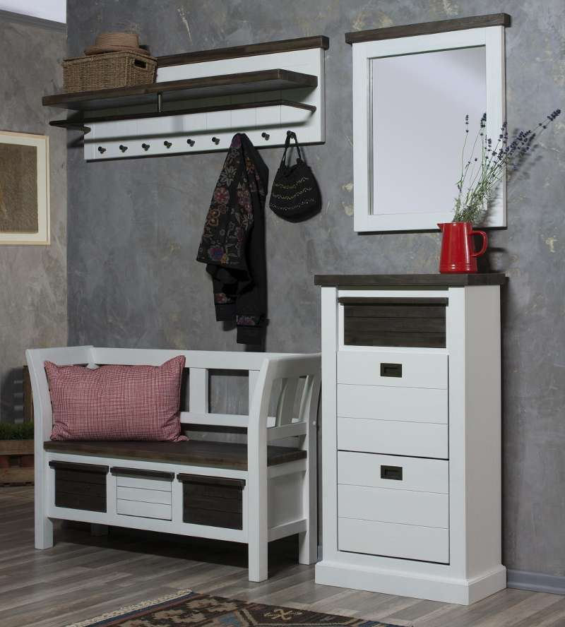Wohnideen Garderobe garderobe loft breit weiss lackiert astor wohnideen