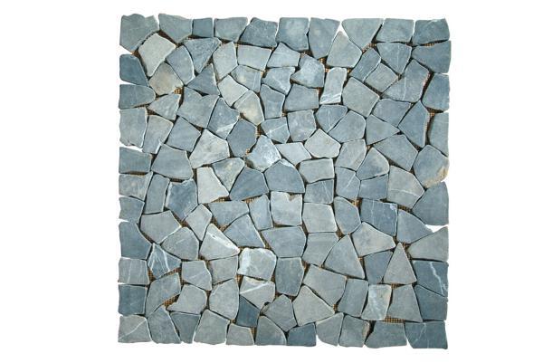 Mosaiksteine auf Nylonmatte 50x50 cm grau - inko Gartenmöbel Mosa_g