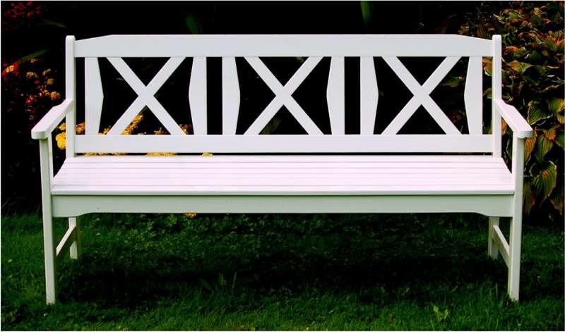Gartenbank Flensburg 2-Sitzer weiß lackiert - Astor