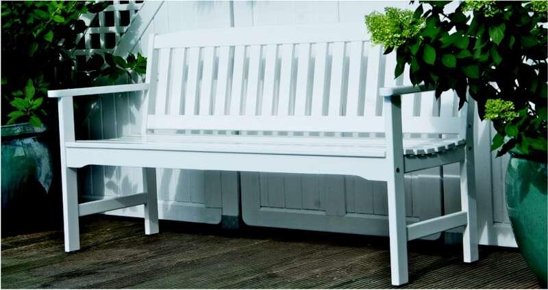 gartenbank hamburg 2 sitzer weiss lackiert astor. Black Bedroom Furniture Sets. Home Design Ideas