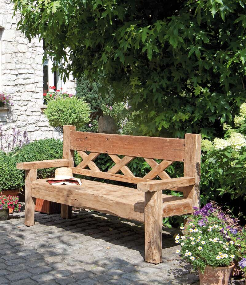 gartenbank jumbo 3 sitzer old teak sonnenpartner. Black Bedroom Furniture Sets. Home Design Ideas