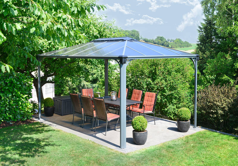 Gartenpavillon Martinique Gazebo Rectangular grau - Palram