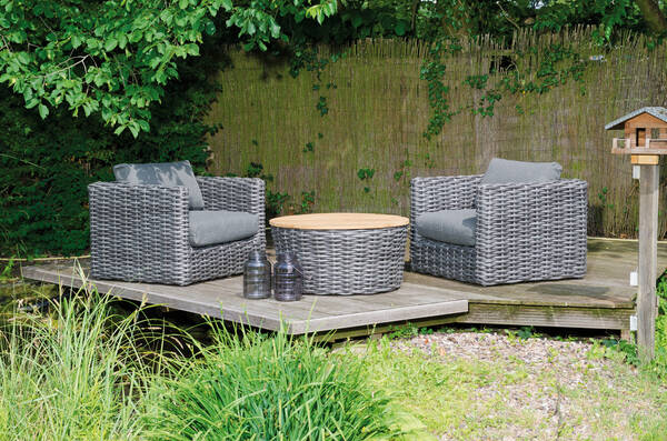 Lounge Sands Set-2 mit Kissen charcoal - SonnenPartner