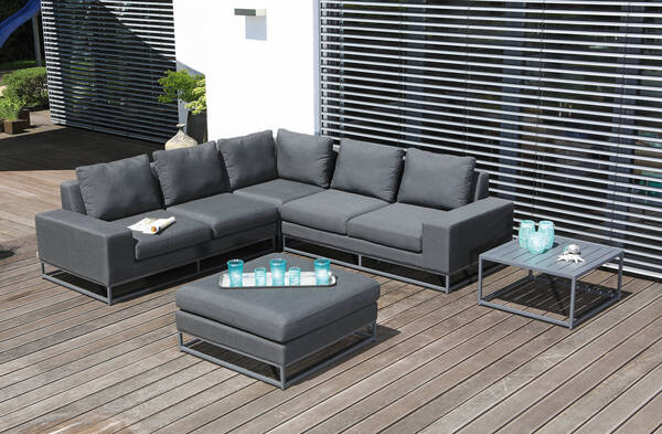 Lounge Unique mit Kissen anthrazit - SonnenPartner