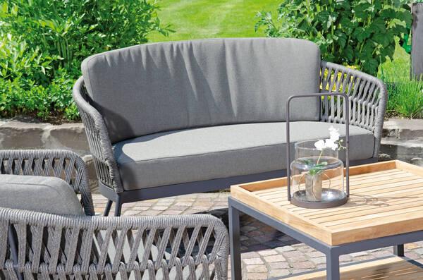 Sofa Advokat mit Kissen grau - SonnenPartner 80072043