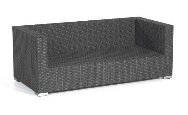 SonnenPartner Loungesofa Residence 2-Sitzer graphit-schwarz Alu - SonnenPartne 80070951