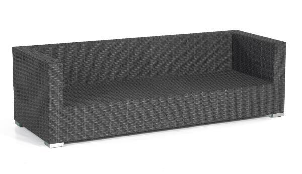 SonnenPartner Loungesofa Residence 3-Sitzer graphit-schwarz Alu - SonnenPartne 80070948