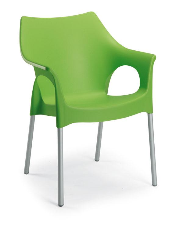 Gartenstühle kunststoff grün  Alu-Stapelsessel Vegas silber-apfelgrün - BEST