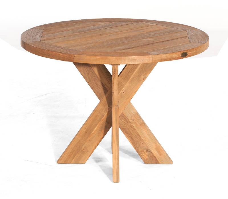 SonnenPartner Tisch Quantum 120 cm rund Old Teak 80050748