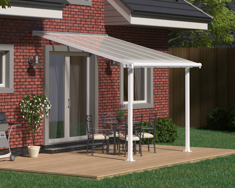 Terrassendach Olympia Patio Covers 16mm 3x3 weiss klar - Palram