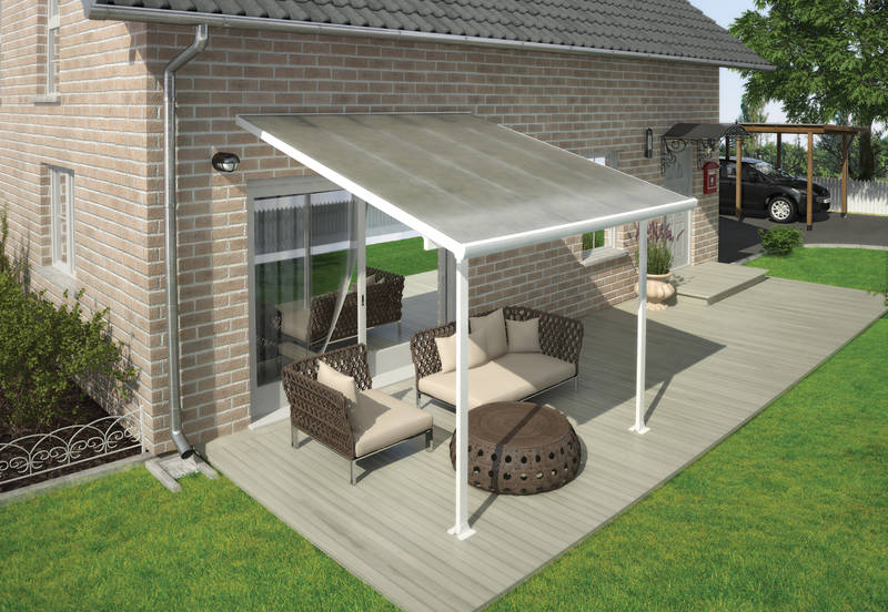 Terrassendach Feria Patio Covers 3x3 weiss klar - Palram