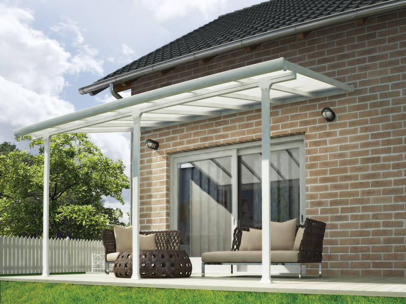 Terrassendach Feria Patio Covers 3x4 weiss klar - Palram