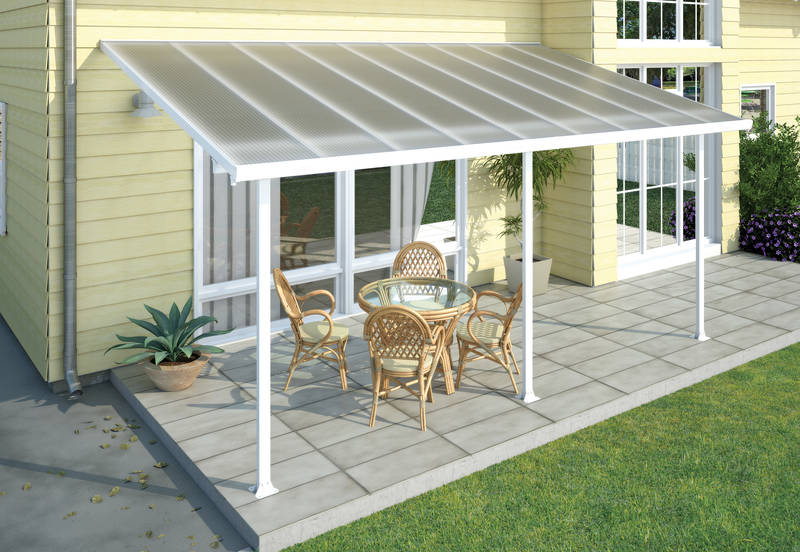 Terrassendach Feria Patio Covers 3x5 weiss klar - Palram