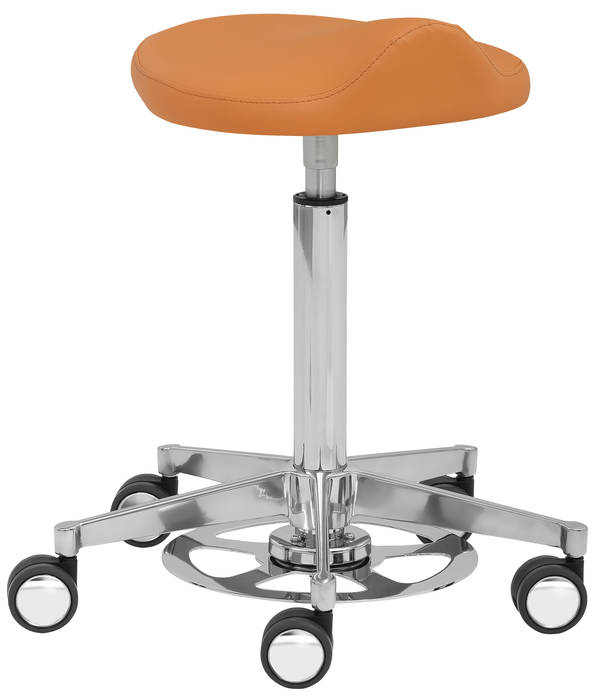 Funktionsdrehhocker myPROFI mit Comfort orange - Mayer