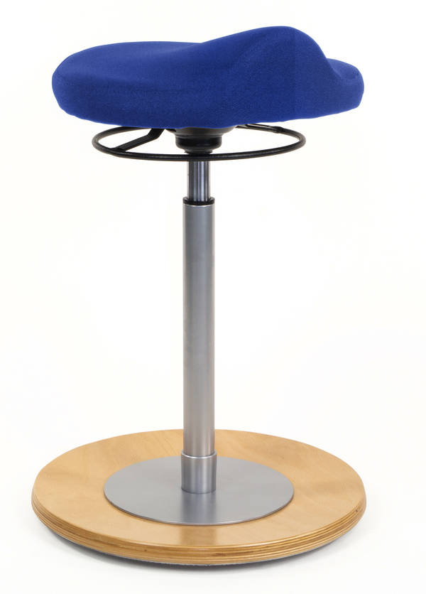 Pendelhocker myERGOSIT natur ergonomischen Sitz blau Mayer