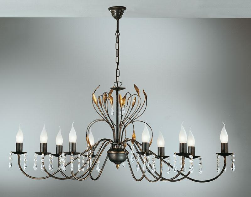 deckenleuchte campana krone 10 fl hans k gl. Black Bedroom Furniture Sets. Home Design Ideas