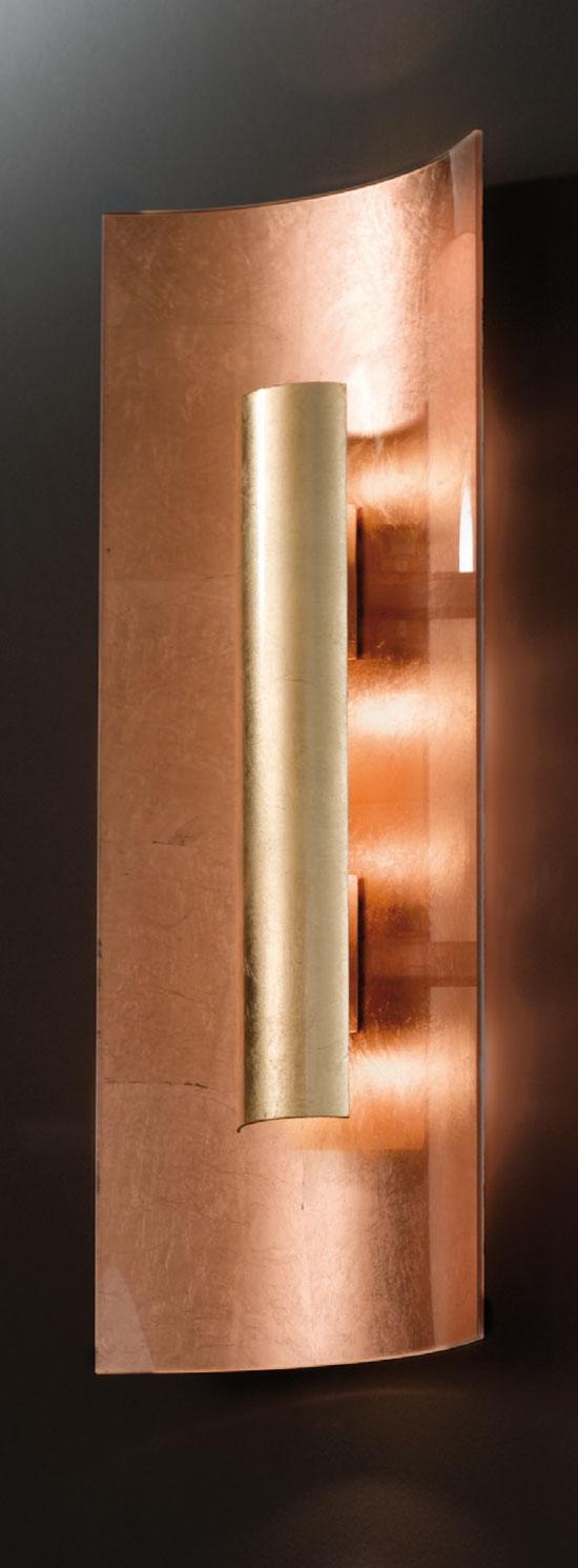 deckenleuchte aura kupfer gold hans k gl. Black Bedroom Furniture Sets. Home Design Ideas