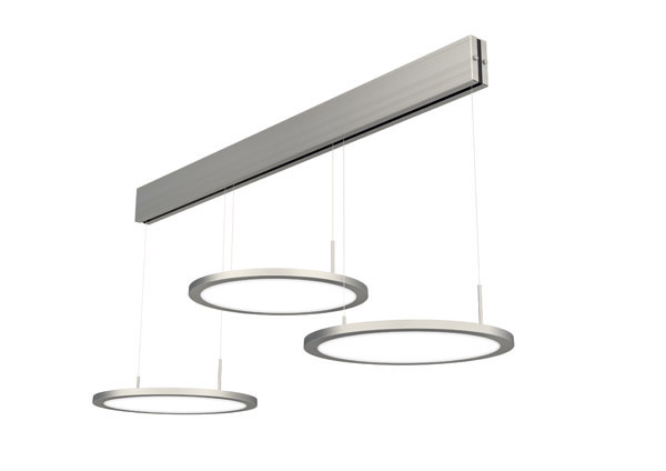 LED-Pendelleuchte BELLINI 3 43W Alu nickel - evotec