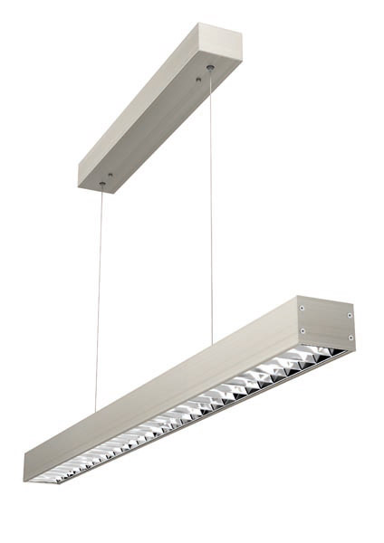LED-Pendelleuchte OFFICE-ONE Raster 25W Alu - evotec