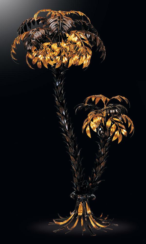 stehleuchte palme 2 large hans k gl. Black Bedroom Furniture Sets. Home Design Ideas