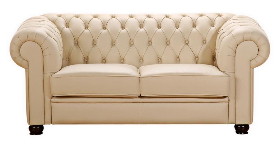 sofa chandler 2 sitz beige echt leder max winzer. Black Bedroom Furniture Sets. Home Design Ideas
