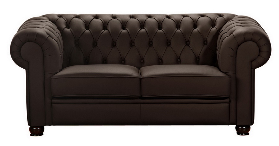 sofa chandler 2 sitz braun echt leder max winzer. Black Bedroom Furniture Sets. Home Design Ideas