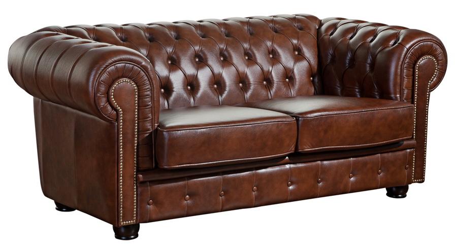 sofa norwin 2 sitz braun echtleder max winzer. Black Bedroom Furniture Sets. Home Design Ideas