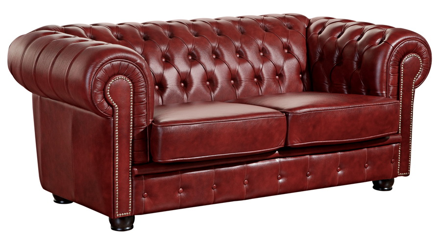 sofa norwin 2 sitz rot echtleder max winzer. Black Bedroom Furniture Sets. Home Design Ideas