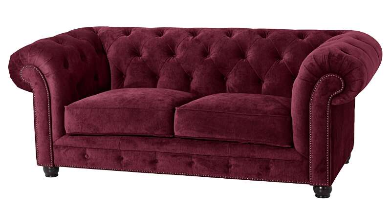 sofa orleans 2 sitz burgund max winzer. Black Bedroom Furniture Sets. Home Design Ideas