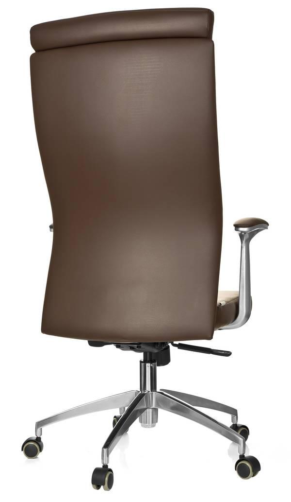 chefsessel monza 20 leder braun hjh office. Black Bedroom Furniture Sets. Home Design Ideas