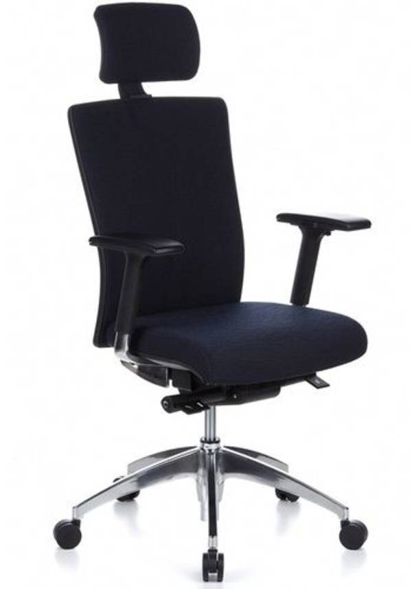 Chefsessel ASTRA LUX Stoff blau - hjh OFFICE