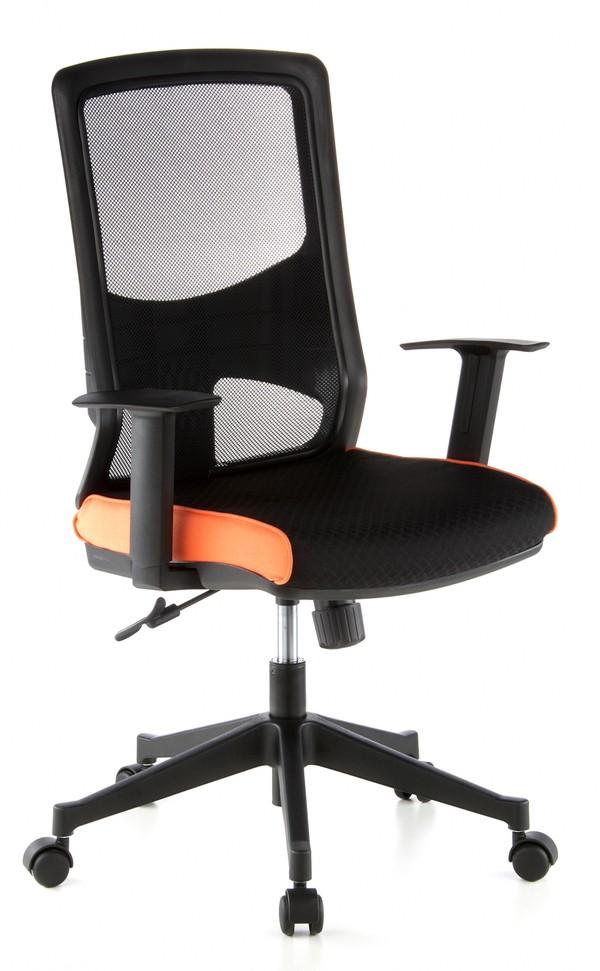 b rostuhl rom schwarz orange hjh office. Black Bedroom Furniture Sets. Home Design Ideas