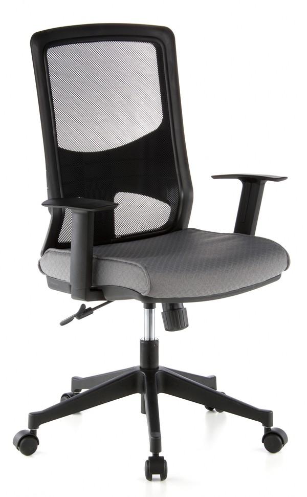 b rostuhl rom schwarz grau hjh office. Black Bedroom Furniture Sets. Home Design Ideas
