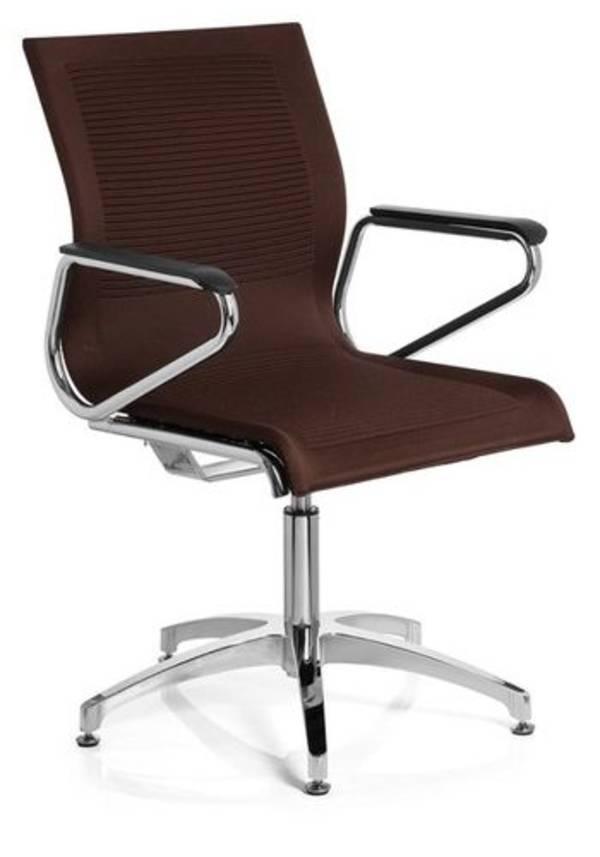 konferenzstuhl astona v stoff braun. Black Bedroom Furniture Sets. Home Design Ideas