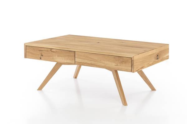 Couchtisch Beistelltisch 85x85 cm Sofatisch Wildeiche massiv geölt Tisch