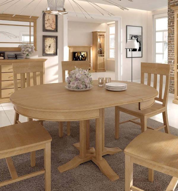 esstisch duett pinie massiv rund karamell voglrieder. Black Bedroom Furniture Sets. Home Design Ideas